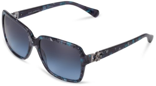 D&G Dolce & Gabbana 0DG4164P 25518F Butterfly Sunglasses,Blue Marble,58 - Gabbana Eyewear Prices Dolce And
