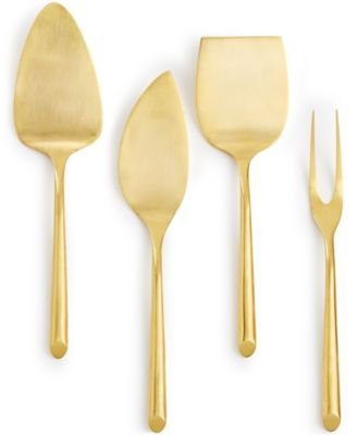 Hotel Collection Stainless Steel Gold Tone Cheese Serving Set