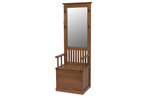 Hall Seat Mission - Amish Heirlooms Solid Cherry Mission Hall Seat, 18