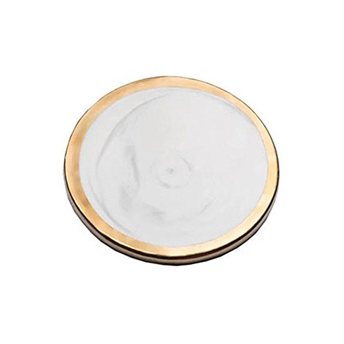 Amazon.com | Ceramic Coaster Gold Plated Tone Marble Coaster Coffee Drink Cup Mat: Coasters