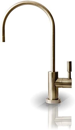 APEC Water Systems FAUCET-CD-AB Kitchen Drinking Water Ceramic Disc Luxury Designer Faucet, Non-Air Gap Faucet Lead Free, Antique Brass