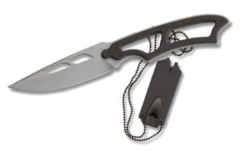 Zytel Combo Handle Blade Black - Smith and Wesson Neck Knife 990ta Tanto Black