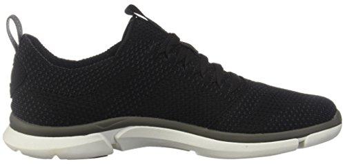 Clarks Mænds Triken Run Sneaker Sort Combi LXcKy