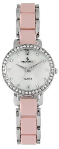 (Peugeot Women's 7083PK Analog Display Japanese Quartz Pink Watch)