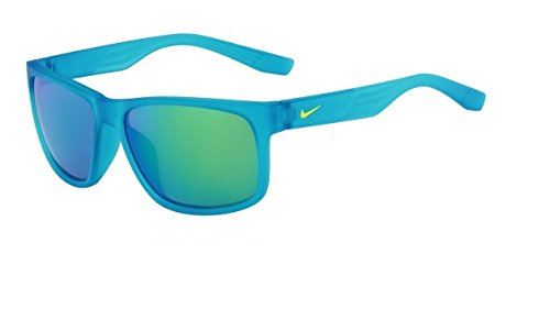 NIKE Grey with Mild Green Flash Lens Cruiser R Sunglasses, Matte Neo Turquoise by NIKE