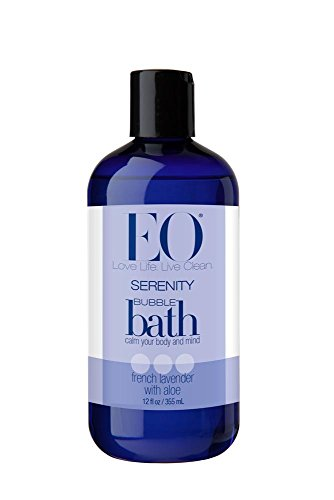 EO Botanical Bubble Bath, Serenity, French Lavender with Aloe, 12 Ounce (Pack of 3)