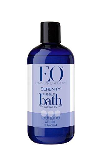 EO bain moussant, sérénité, lavande Français avec de l'aloès, bouteilles de 12 onces, (Pack de 3)
