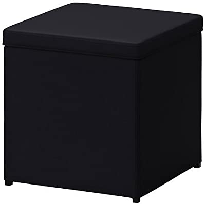 Excellent Fhe Group Folding Storage Ottoman 12 By 12 By 12 Inches Gamerscity Chair Design For Home Gamerscityorg