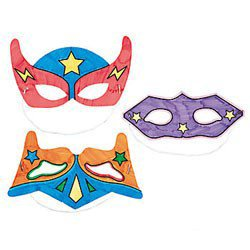 Color-Your-Own Superhero Masks (12 Pack) ()