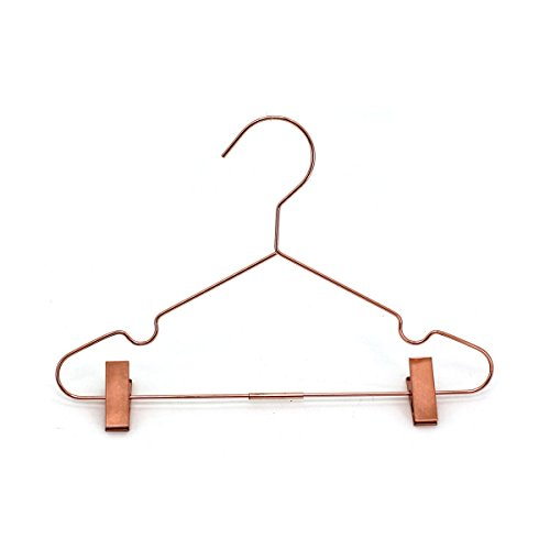 50Pack Koobay 13'' Rose Copper Gold Shiny Metal Wire Top Clothes Hangers With Clips for Shirts Coat Storage & Display by Koobay