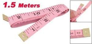 96 x 1.5M 60 Soft Plastic Ruler Tailor Cloth Body Measure Measuring Flat Tape PINK