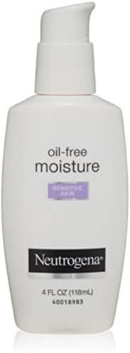 Neutrogena Oil-Free Daily Facial Moisturizer for Sensitive Skin, Ultra-Gentle & Lightweight Moisturizers Free of Fragrances & Dyes, 4 fl. oz
