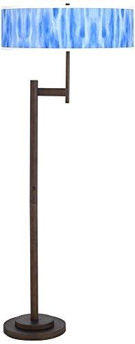 Blue Giclee Floor Lamp - Blue Tide Giclee Parker Light Blaster Bronze Floor Lamp