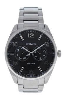amazon com citizen ao9020 84e eco drive dress black dial stainless