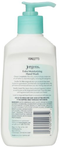 Jergens Extra Moisturizing Liquid Hand Wash Pump, 7.5 Ounce (Pack of 4)