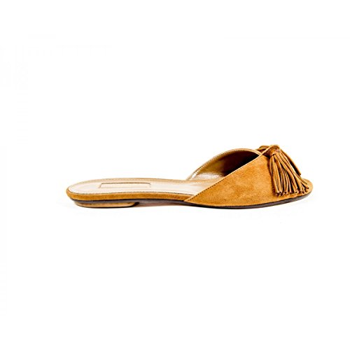 Aquazzura Firenze Womens Flat Sandal WILFLAA0 SUE 884 Camel fyrArx