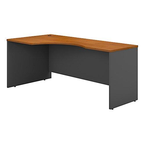 Bush Business Furniture Series C 72W Left Handed Corner Desk in Natural Cherry (Cart Bush Computer Furniture)