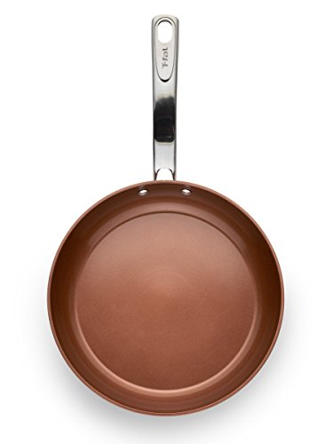 T-fal C4102S274 Endura Copper Ceramic Nonstick Dishwasher Safe Cookware Fry Pan, 2-Pack, Copper