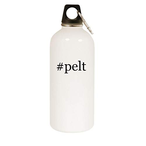 #pelt - 20oz Hashtag Stainless Steel White Water Bottle with Carabiner, White