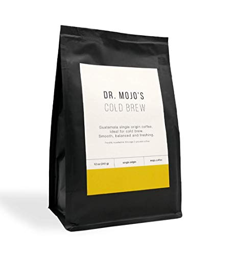 Cold Brew Coffee Grounds, Medium Roast, Ground Coffee Dr Mojo Coffee Roasters, 12 ounces. Single Origin Coffee from…