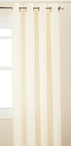 Curtainworks Monterey Grommet Curtain Panel, 52 by 144″, Alabaster