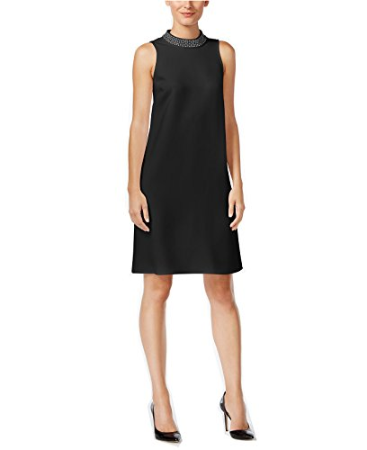 Neck Women s Dress Dress Embellished s Neck Mock Mock Deep Alfani Alfani Black Women Embellished wRpUZq