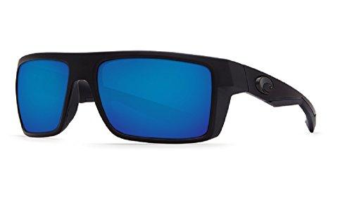 Costa Del Mar Blue Lens - Costa Del Mar Motu Sunglasses, Blackout, Blue Mirror 580 Glass Lens