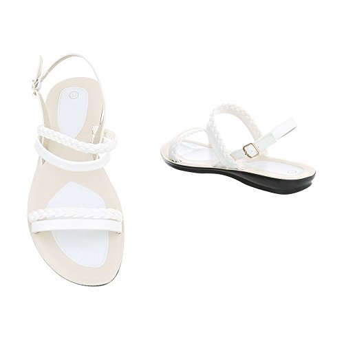 at Sandals Women's Sandals Flat White Design Ital Strappy q7HYREx