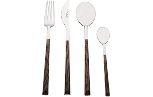 r Red Vanilla 17D07091 24 Piece Flatware Set, Wenge ()