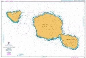 Ba Diagramm 1382  nähert zu Tahiti und MOOREA von UNITED KINGDOM Hydrographic Büro