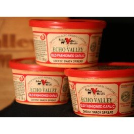 Echo Valley Old Fashioned Garlic Cheese Spread 7oz (3 tubs) Shelf (Cheese Garlic)