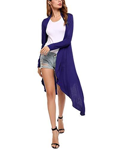 Di Maglioni S Mode Cappotto Giovane Monocromo Cardigan Moda Lunghi Irregular Color Slim Maglia A Elegante di Lunga Manica Pullover Size Fit Moda Donna Blau Moda marca Autunno FwAUqaF