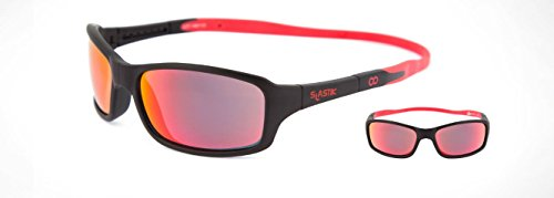 a6b7c70145dd SLASTIK Sunglasses Slatiksun THUNDER for Kids-Head circumference size  XL  521~561mm (Thunder 001 Black  Red