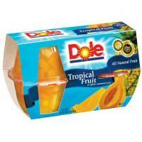 - Dole Tropical Fruit in Lightly Sweetened Juice 4 - 4 oz cups (Pack of 6)