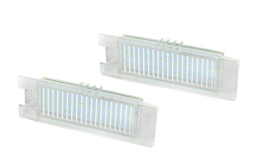 iJDMTOY (2) Xenon White LED License Plate Lamps For 2014-up Chevy Camaro, 2013-15 Chevy Malibu, 2011-up Chevy Volt, CANbus Controllers Included (Powered by 18 Pieces of SMD LED Lights)