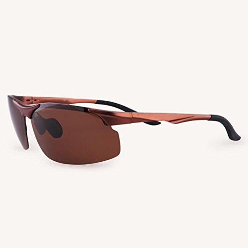 Gafas sol sol de sol Gafas para sol Gafas para sol de Gafas colores hombre 4 de Protección Star para Regalo UV Gafas nuevas Brown Frame; retro de B opcional Brown excursionistas de li al sol Conducción UV400 Deportes aire rTnTwIY