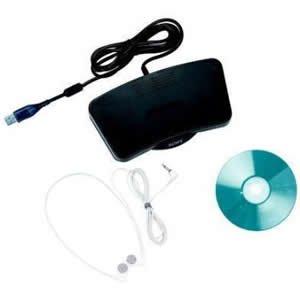 Digital Transcriber Kit,USB Connector,7-1/2 quot;x4-3/4 quot;x3/4 quot;,BK