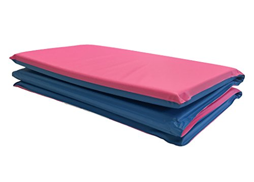 (KinderMat Toddler with Pillow, Blue/Pink - 3/4 Inch Thickness, 8-mil Vinyl)