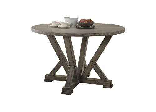 Best Master Furniture Anna 47 in. Round Dining Table Grey