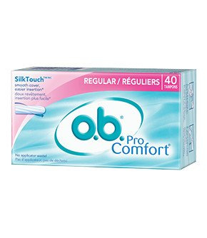 o.b. Pro Comfort Tampons, Multi-Pack, 40-Count Packages (Pack of 3) Comfort Plus Tampons