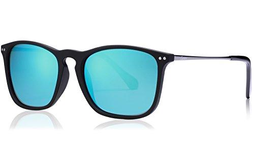 Carfia Vintage Polarized Sunglasses for Men, 100% UV400 Protection (Ice Blue - Sunglasses World Best