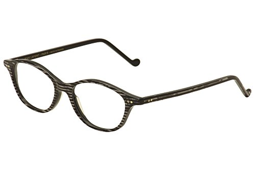524a02d4ec Lafont Reedition Eyeglasses Regence 1029 Black Silver Stripe Optical Frame  49mm