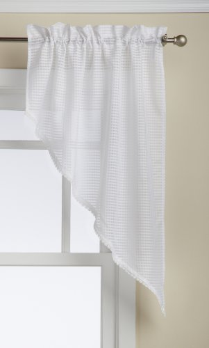 Lorraine Home Fashions Simplicity Tailored Swag Pair, 60 by 38-Inch, White