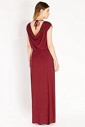 Oasis cowl back maxi dress