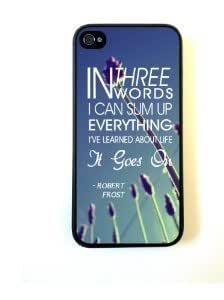 Season.C ThinShell Protective Hard Back Case Robert Frost Quote It Goes On for iPhone 5C