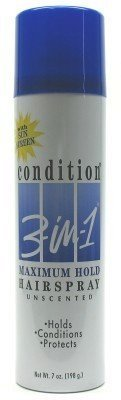 Condition 3-N-1 Aero Hairspray 7 oz. Maximum Hold Unscented (Case of 6) ()