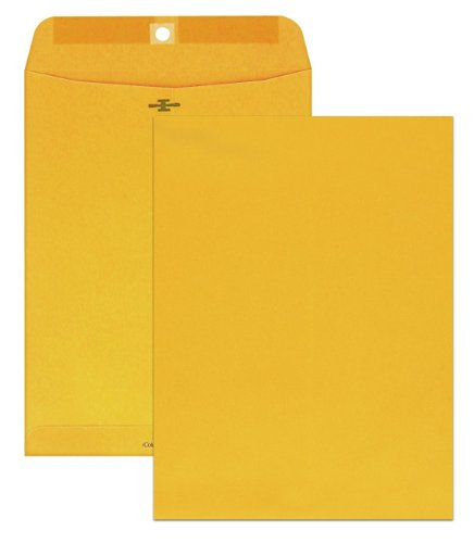 Columbian Clasp Envelopes, 9 x 12 Inches, Brown Kraft, 100 Per Box - Clasp Material