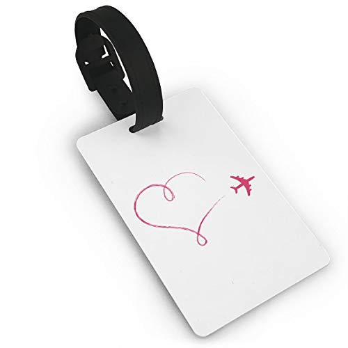 Mini Luggage Tag Heart Airplane PVC Business Card Holder for Baggage Bag Name Address ID Label Travel Identifier Accessories