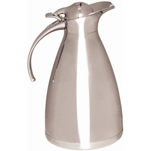 Vacuum Jug - Hinged Lid 2 litre capacity. Stainless steel body. by Nextday Catering Equipment Supplies UK