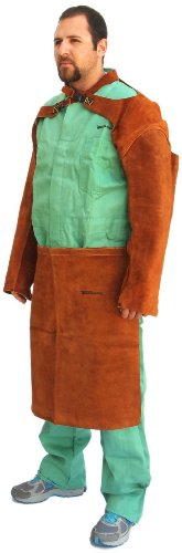 Forney 57202 Welding Apron, Flame Retardant, Brown Leather